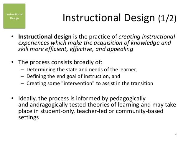 what is instructional process