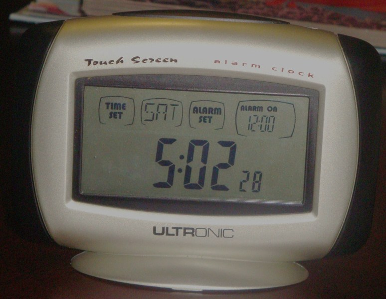 ultronic touch screen clock instructions