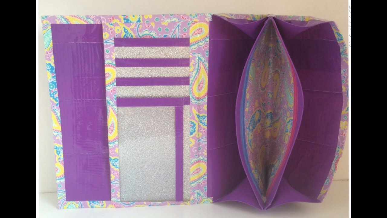 how to make a duct tape wallet instructions