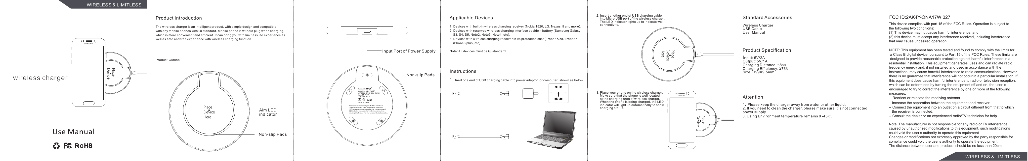 jetech wireless charger instructions