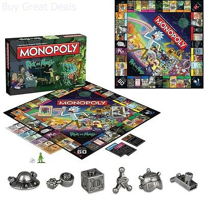 rick and morty monopoly instructions